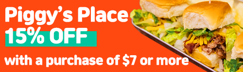 Piggy's Place - 15% off with a purchase of $7 or more